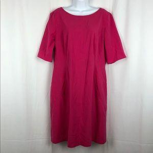 Tahari short sleeve sheath dress with pockets 14
